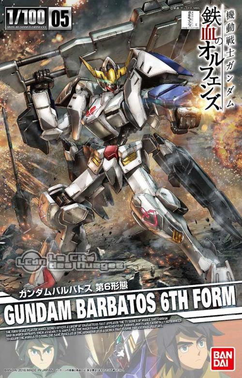 GUNDAM - IBO 1/100 Gundam Barbatos 6th Form - Model Kit - 18cm