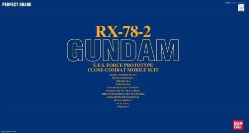 GUNDAM - PG 1/60 RX-78-2 Gundam - Model Kit