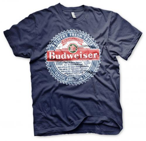 BEER - Budweiser American Lager - T-Shirt - (S)