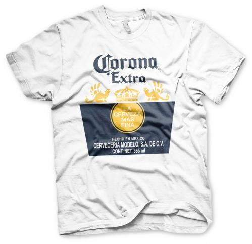 BEER - Corona Extra Label - T-Shirt - (S)