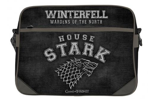 GAME OF THRONES - Stark - Sac besace 38x29x12.5cm