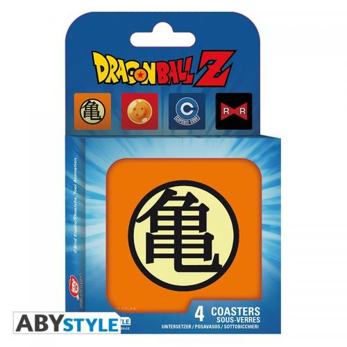 DRAGON BALL - Pack de 4 Dessous de Verre - Symboles