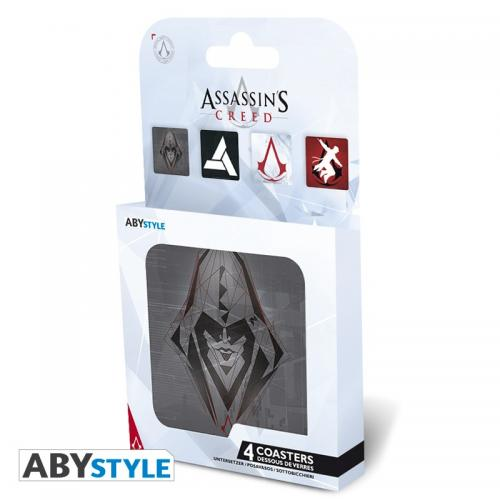ASSASSIN'S CREED - Pack de 4 Dessous de Verre