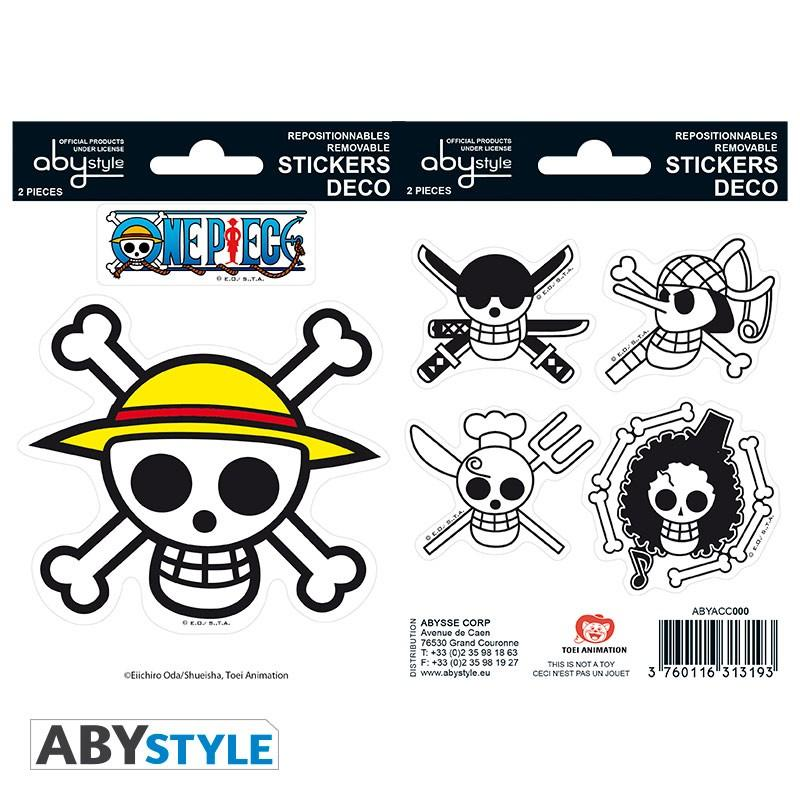 ONE PIECE - Stickers - 16x11cm / 2 planches - Pirates Flag
