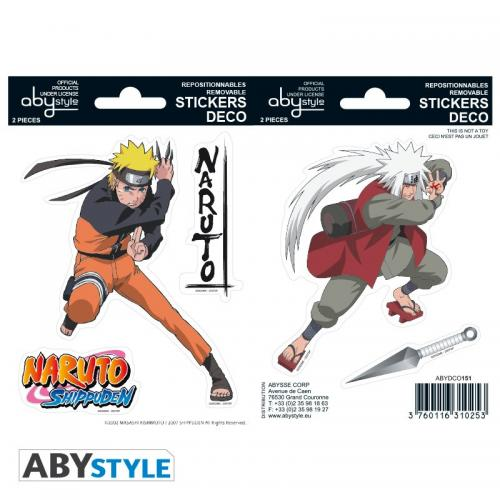 NARUTO - Stickers - 16x11cm / 2 planches - Naruto/Jiraiya