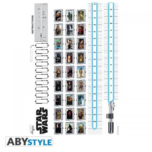 STAR WARS - Toise de Star Wars - Stickers 100x70cm