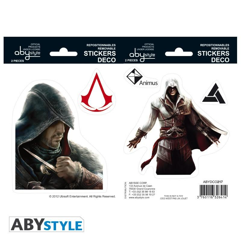 ASSASSIN'S CREED - Stickers - 16x11cm / 2 planches - Ezio/Atlaïr