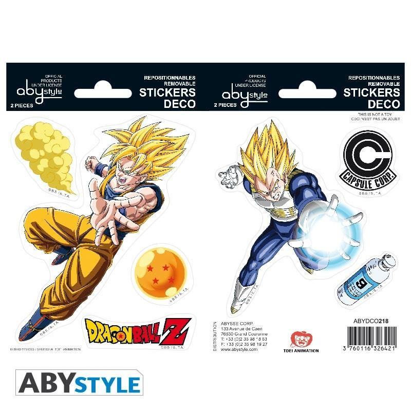 DRAGON BALL - Stickers - 16x11cm / 2 planches - DBZ/Goku & Vegeta