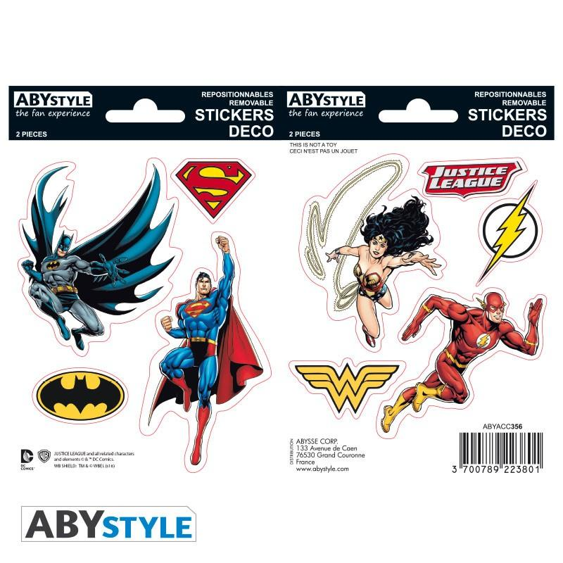 DC COMICS - Stickers - 16x11cm / 2 planches - Justice League