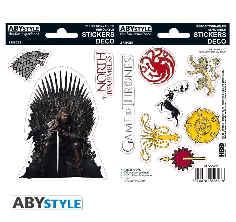 GAME OF THRONES - Stickers - 16x11cm / 2 planches - Stark/Sigils_1