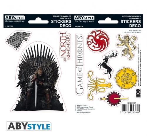 GAME OF THRONES - Stickers - 16x11cm / 2 planches - Stark/Sigils