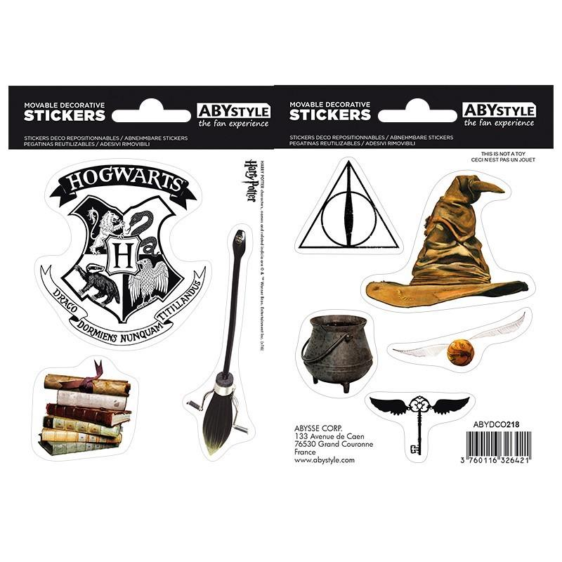 HARRY POTTER - Stickers - 16x11cm / 2 planches - Objets Magiques