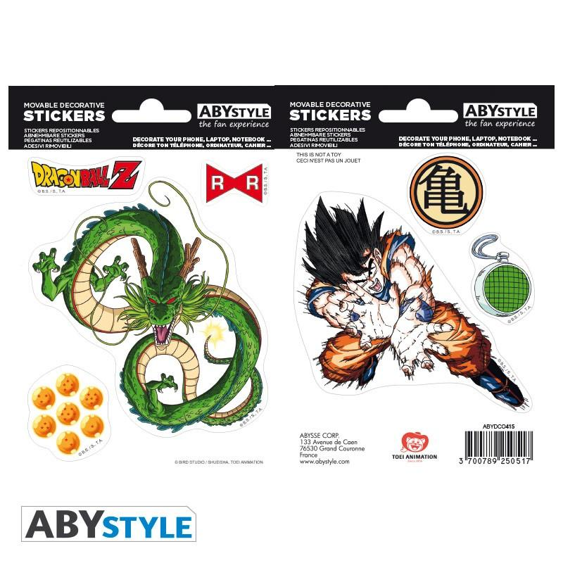 DRAGON BALL - Stickers - 16x11cm / 2 planches - DBZ/Shenron