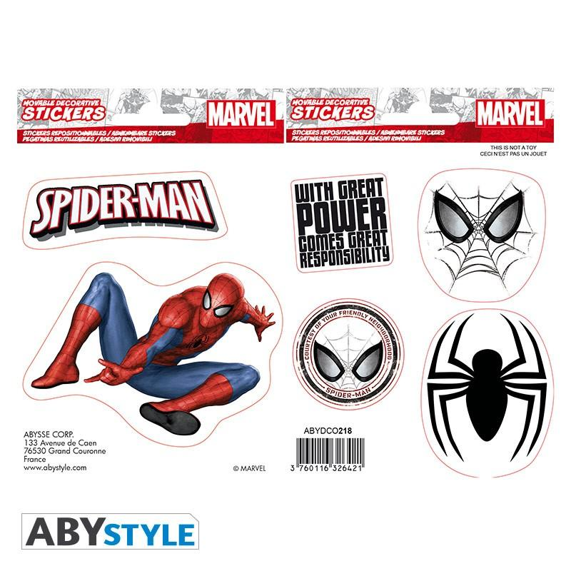 MARVEL - Stickers - 16x11cm / 2 planches - Spider-Man