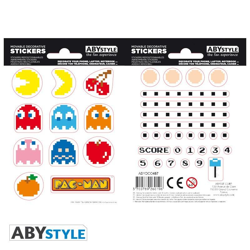 PAC-MAN - Stickers - 16x11cm / 2 planches - Labyrinthe