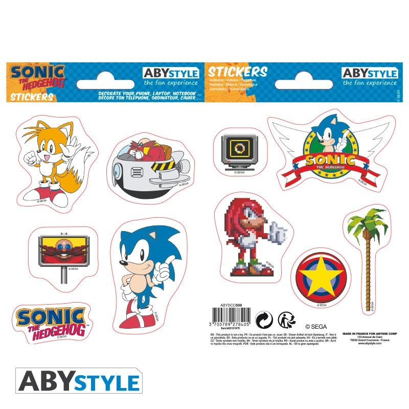 SONIC - Stickers - 16x11cm / 2 planches - Sonic Retro