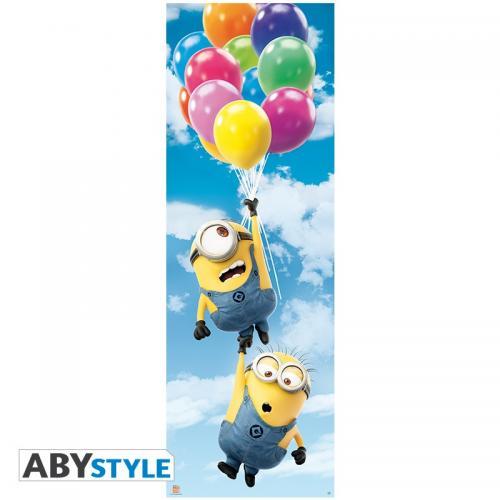 MINIONS - Poster de porte - Ballons - 53x158