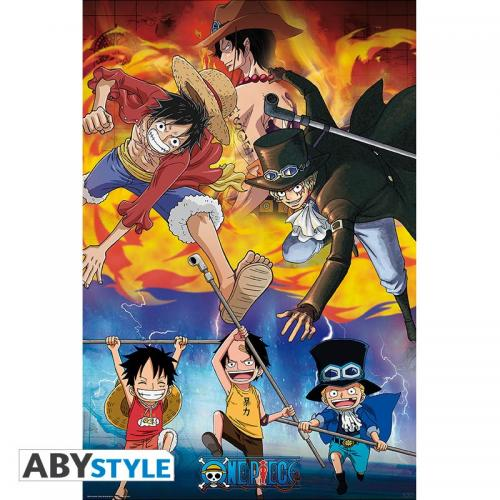 ONE PIECE - Ace, Sabo & Luffy - Poster '91x61'
