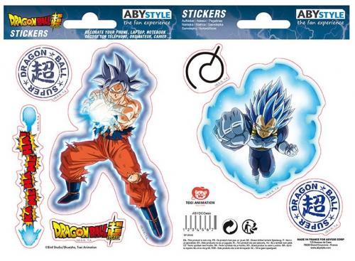 DRAGON BALL SUPER - Goku & Vegeta - Stickers 6x11cm/ 2 planches