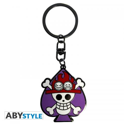 ONE PIECE - Porte-Cles Metal - Skull Ace