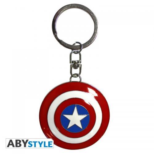 MARVEL - Porte-Cles Metal 3D - Bouclier Captain America