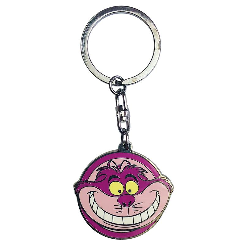 DISNEY - Porte-Cles Metal - Alice / Chat du Cheshire