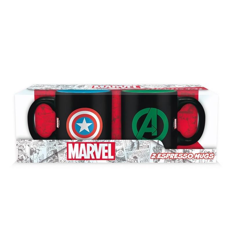 MARVEL - Set 2 Mini-Mugs - Captain America / Hulk