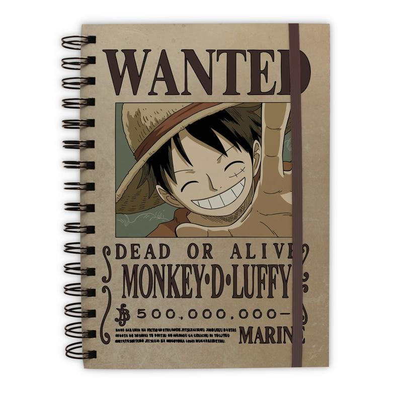 ONE PIECE - Notebook A5 - Wanted Luffy