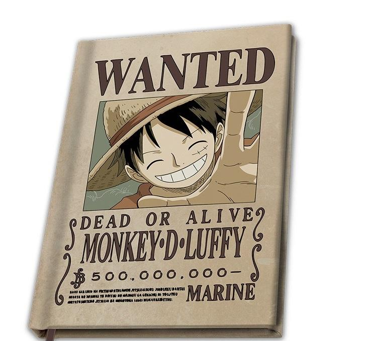 ONE PIECE - Wanted Luffy - Notebook A5_1