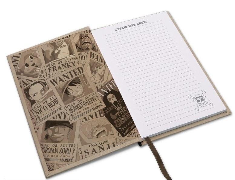 ONE PIECE - Wanted Luffy - Notebook A5_3