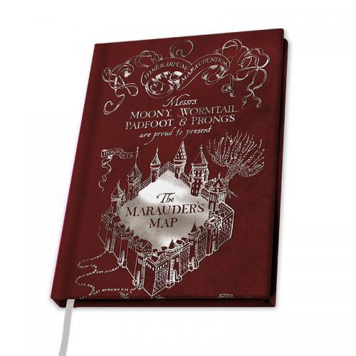 HARRY POTTER - Notebook A5 - Carte du Maraudeur