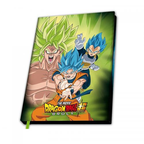 DRAGON BALL BROLY - Broly vs Goku vs Vegeta - Notebook A5