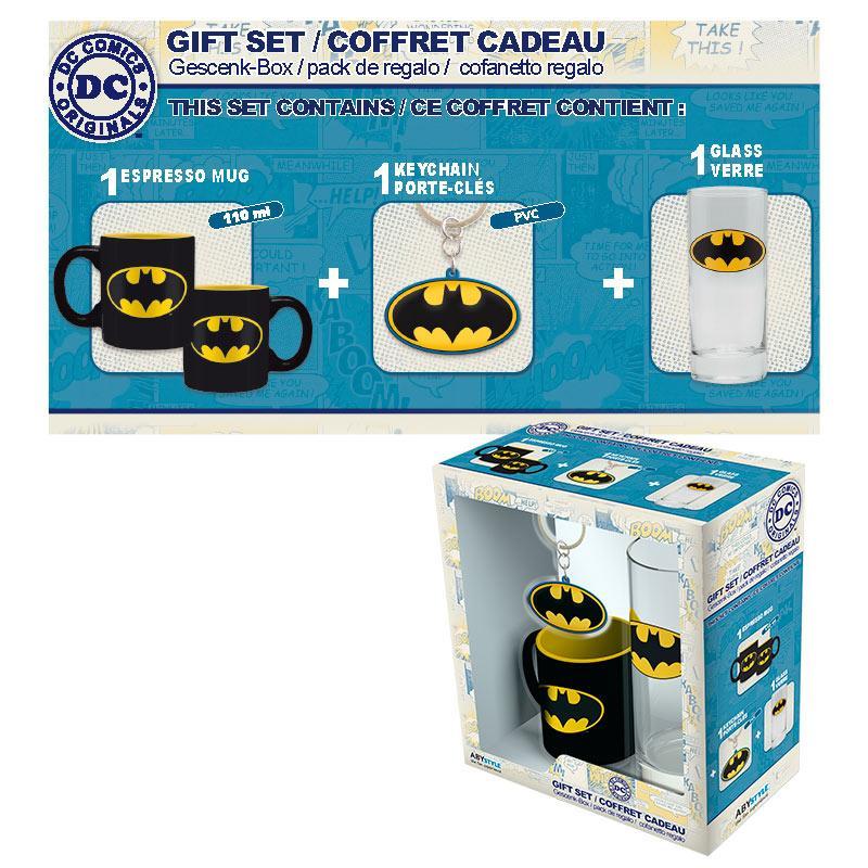 DC COMICS - Coffret (Verre + Porte Cles + Mini Mug) - Batman