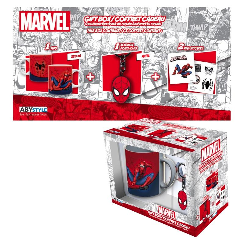 MARVEL - Coffret Cadeau Spiderman (Mug + Porte Cles + Sticker)