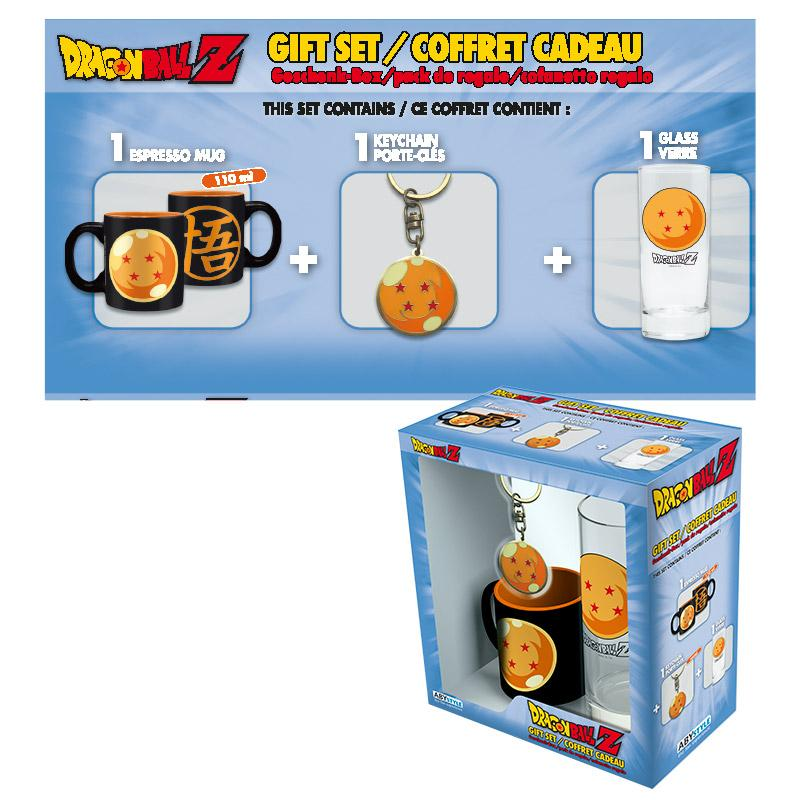 DRAGON BALL - Coffret (Verre + Porte Cles + Mini Mug) - Cristal Ball_1