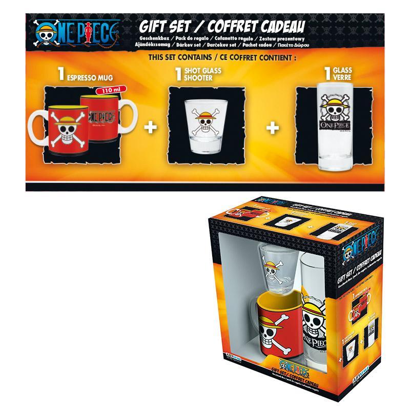 ONE PIECE - Coffret Cadeau Skull Luffy  (Verre + Shooter + Mini-Mug)
