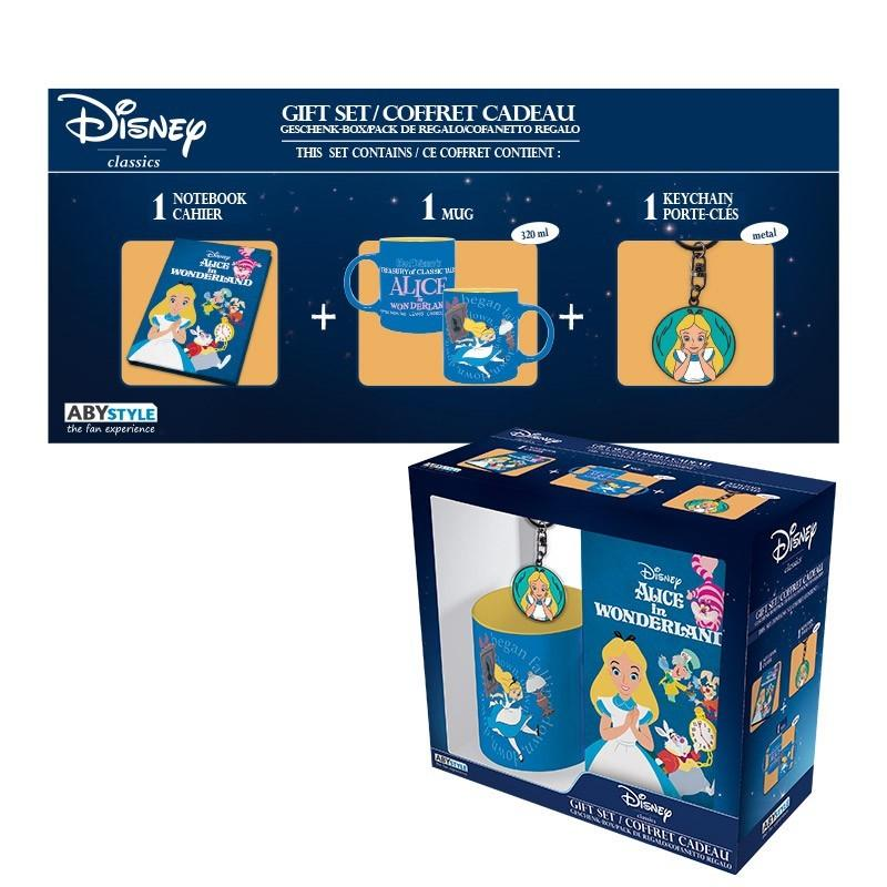 DISNEY - Coffret Cadeau (Mug+Keyring+Mini Notebook) - Alice