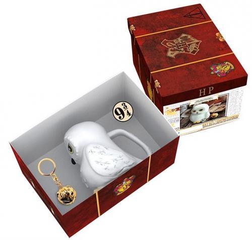 HARRY POTTER - Pack prémium avec mug 3D + porte-clés 3D + Pin's