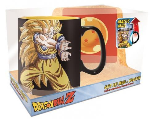 DRAGON BALL - Kamehameha - Set mug thermoréactif 460ml + sous verre