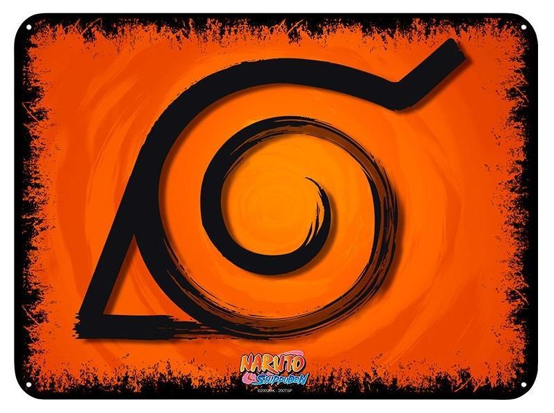 NARUTO - Konoha - Plaque métal '28x38'_1