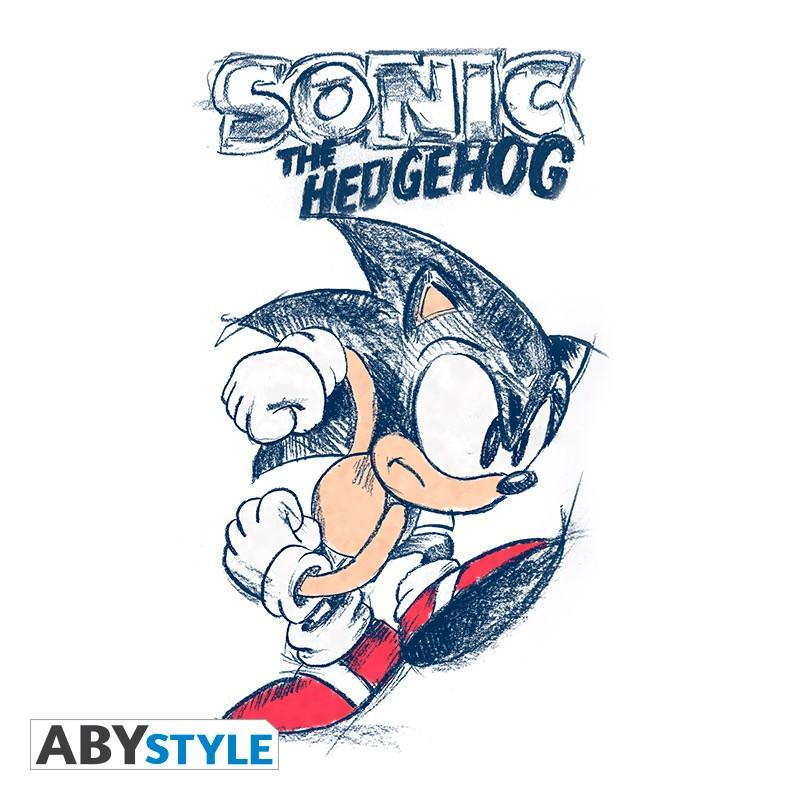 SONIC - T-Shirt Sonic homme blanc & bleu - Premium (XS)_2