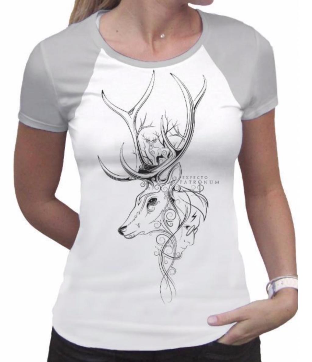 HARRY POTTER - T-Shirt PREMIUM Patronus White & Grey (M)