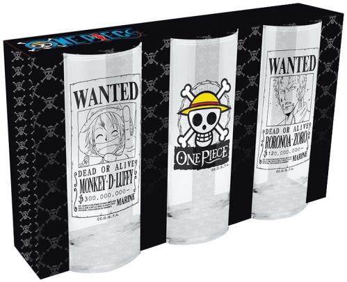 ONE PIECE - Set de 3 Verres