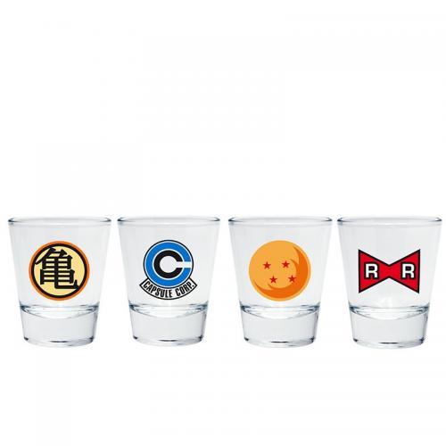 DRAGON BALL - Set de 4 Shooters - Emblèmes