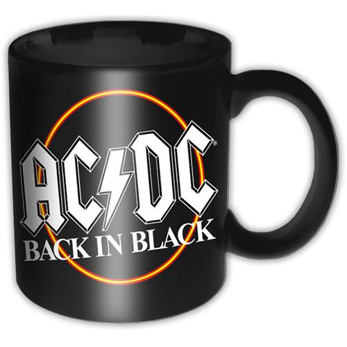 AC/DC - Mug 315 ml - Black In Black Circle