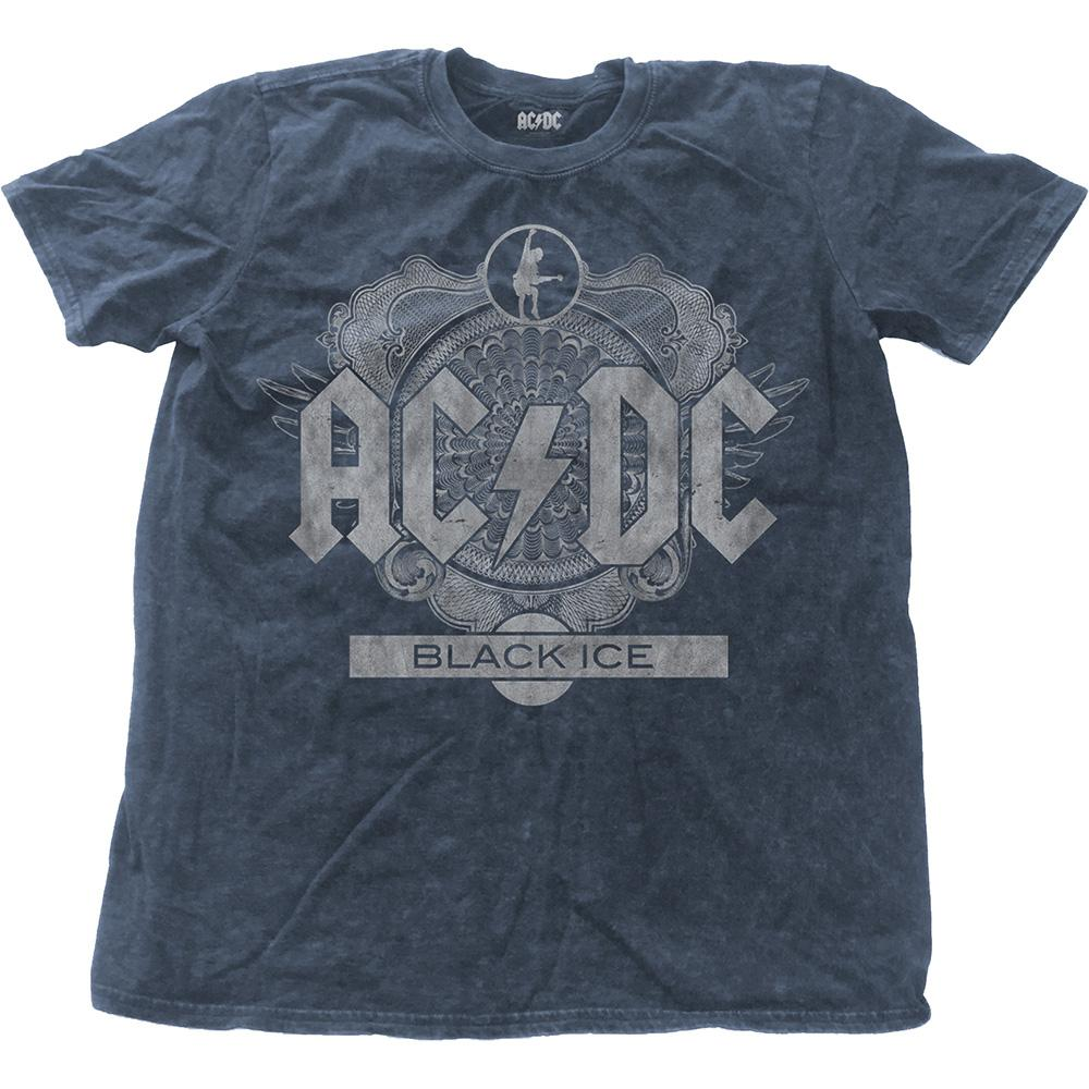 AC/DC - T-Shirt Snow Wash Col - Black Ice (L)
