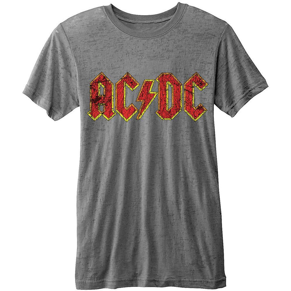 AC/DC - T-Shirt BurnOut Col - Classic Logo - Men (L)