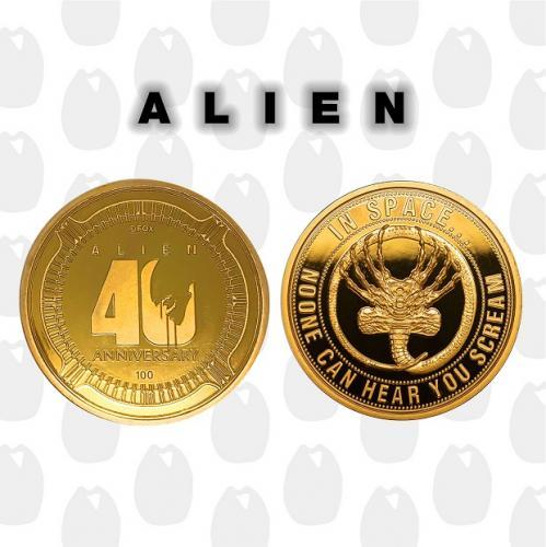 ALIEN - 40ème anniversaire - Pièce de collection édition limitée Or
