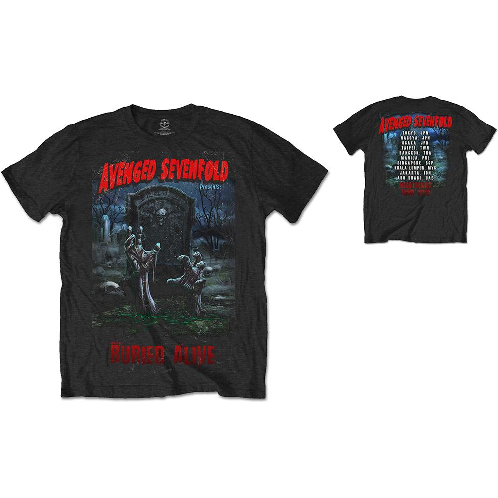 AVENGED SEVENFOLD - T-Shirt RWC- Buried Alive Tour 2012 (L)