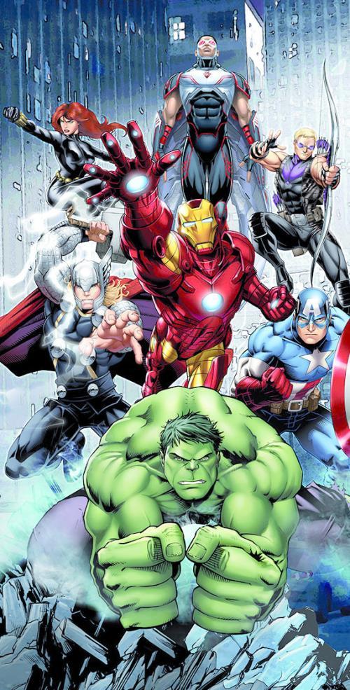 MARVEL - Serviette de Plage 100% Microfibre - 70x140cm - Avengers
